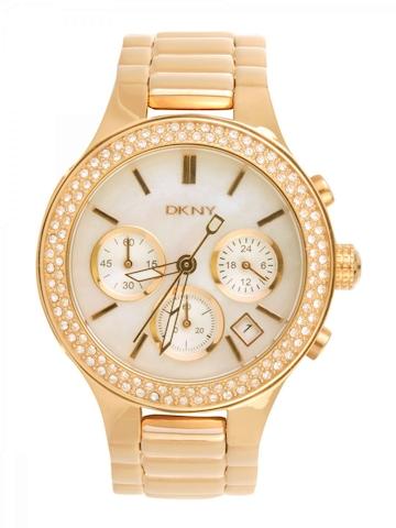 DKNY Women White Dial Chronograph Watch NY8080