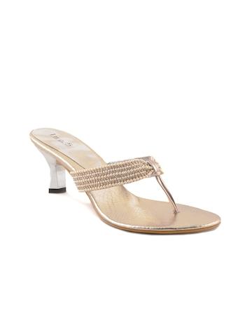 Inc 5 Women Casual Gold Heels