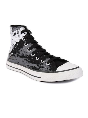 Converse Men As Sketch Hi Black Casual Shoes