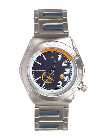Fastrack Men Analog Steel Navy Blue Watch
