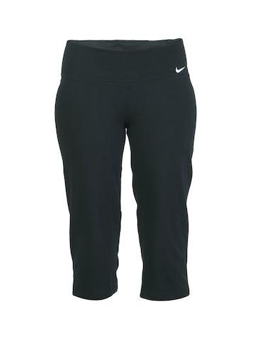 Nike Women Black Sports Capris