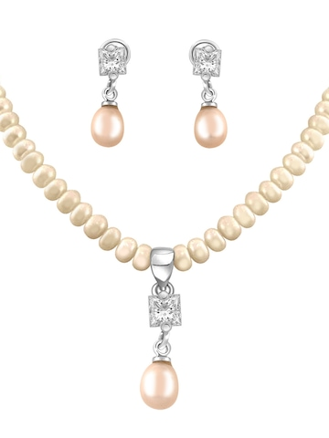 Miki Pearl Women Ivory Jewellery Set