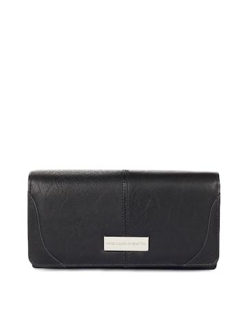 United Colors of Benetton Women Black Wallet