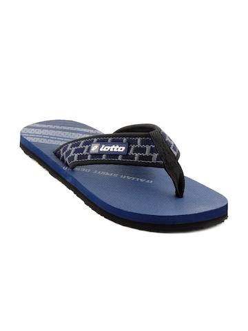 Lotto Men Straight Navy Blue Slippers