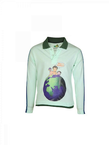 Chhota Bheem Kids Boys Lost Alien Green T-shirt