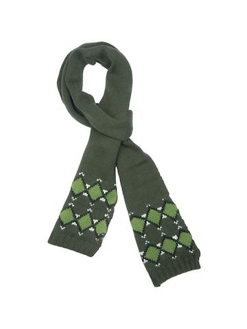 United Colors of Benetton Men Solid Green Muffler