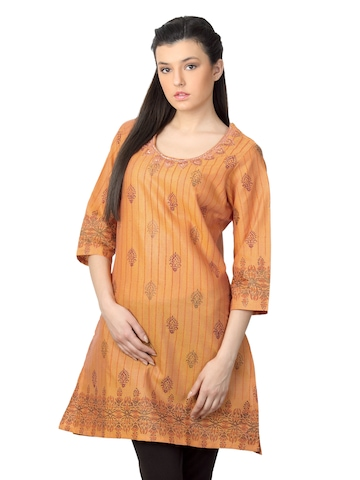 Diva Women Orange Kurta