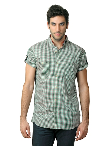 French Connection Men Green Shirt