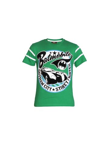 Batman Boys Green Printed T-shirt