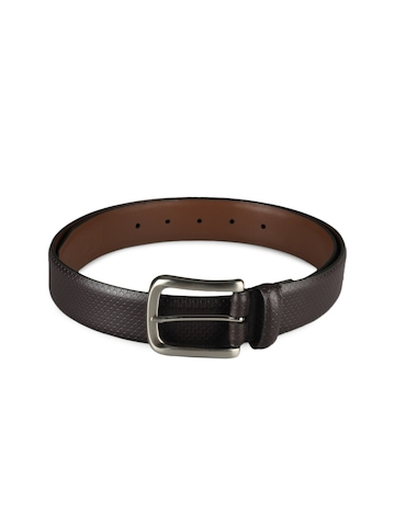 Basics Men Brown Leather Belt