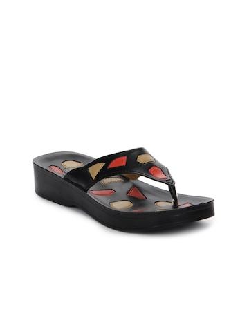 Tiptopp Women Black Sandals