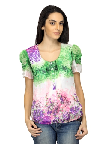 Arrow Woman Printed Multi Coloured Top
