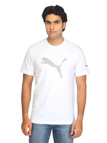 Puma Men Dizzy Graphic White T-shirt