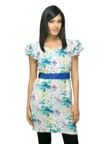 Sepia Women Printed White Dress