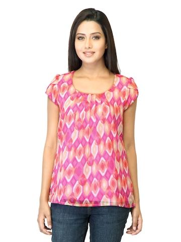 Arrow Woman Pink Printed Top
