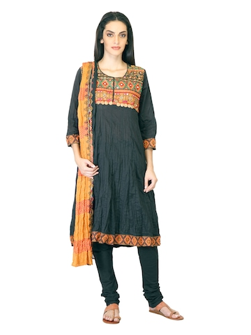 BIBA Women Ethnic Black Salwar Suit