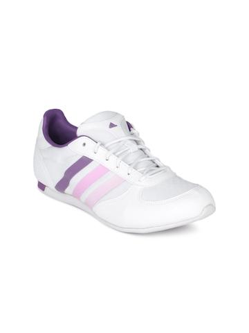 Adidas Women White Adi Weld Shoes