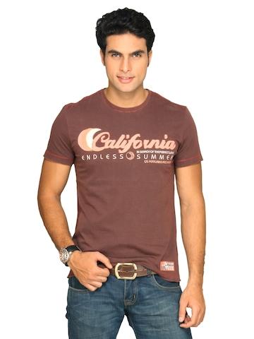 s.Oliver Men's Valentine Brown T-shirt