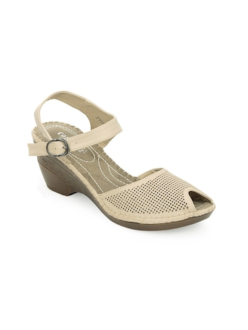 Cobblerz Women Beige Sandals