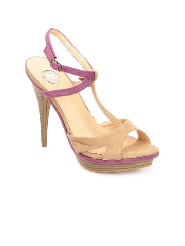 Cobblerz Women Beige & Pink Peep Toes