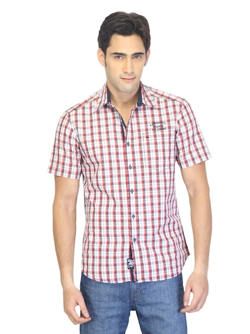 Lee Men Henry Red Check Shirt
