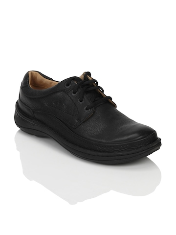 Clarks Men Nature Three Leather Black Shoes