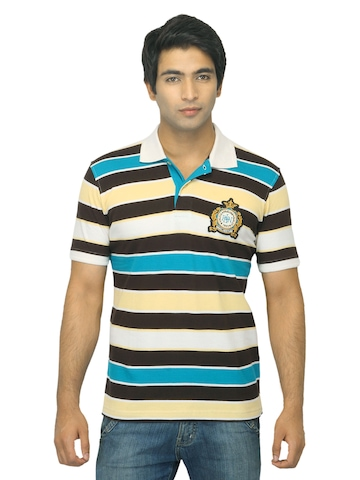 Proline Men Multi Coloured Polo T-shirt