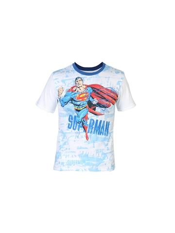 Superman Boys Crew White T-shirt
