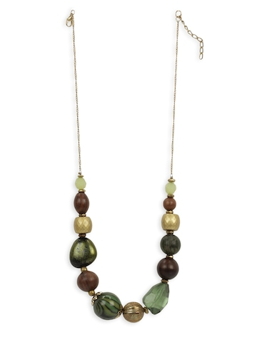 Adrika Women Green & Brown Necklace