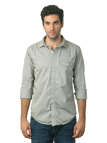Basics Men Grey Shirt