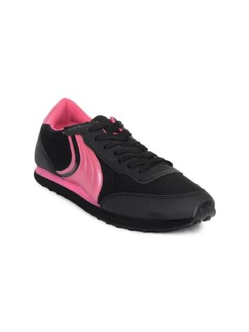 Spinn Women Alliance Black Sports Shoes
