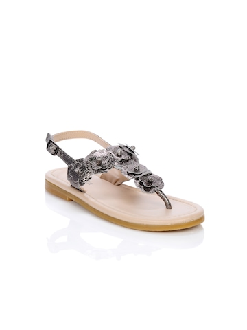 Enroute Teens Silver Sandals