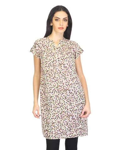 W Women Printed Multi Coloured Kurta