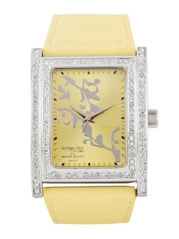 Q&Q Attractive Women Yellow Dial Watch