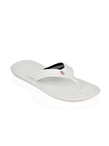 U.S. Polo Assn. Men White Flip Flops