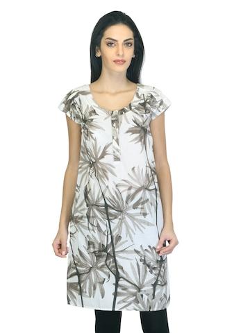 W Women Printed White Kurta