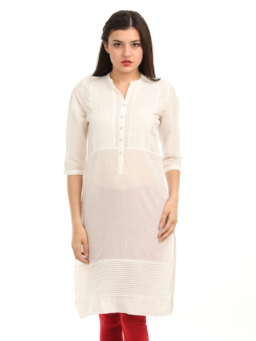 W Women White Kurta