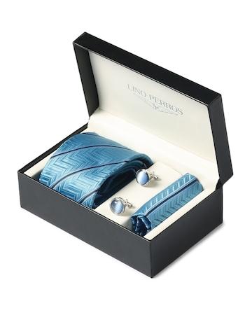 Lino Perros Men Formal Blue Accessory Gift Set
