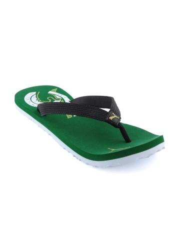 Puma Unisex Wave Green Flip Flops