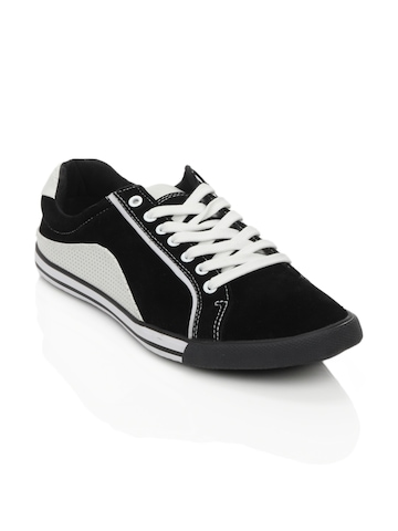 Spinn Men Marley Black Shoes