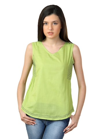 Sepia Women Green Top