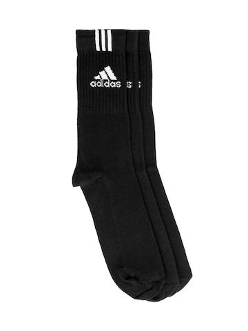 Adidas Unisex Pack of 3 Black Socks