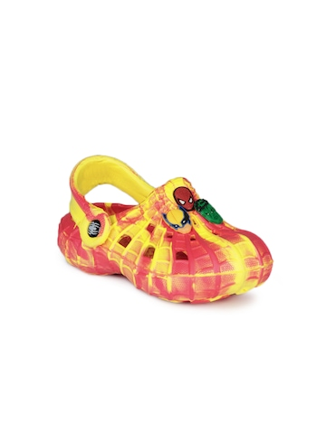 Marvel Boys Yellow and Orange Slippers