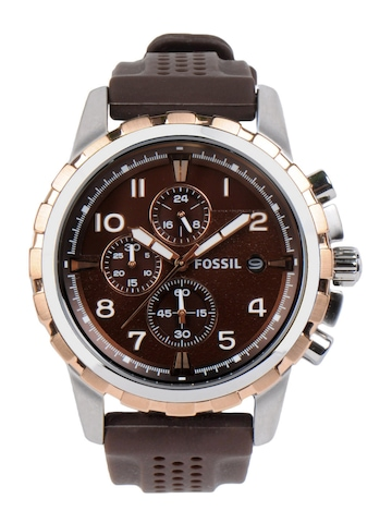 Fossil Men Brown Dial Chronograph Watch FS4612