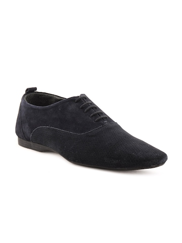 Franco Leone Men Formal Blue Formal Shoes