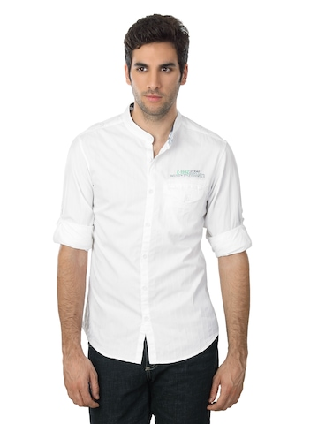 Spykar Men Ranger White Shirt
