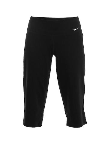 Nike Women Black Capris