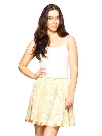 Forever New Women Cappuccino Cream Skirts