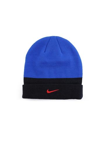 Nike Unisex Cuffed Beanie Blue Skull Cap