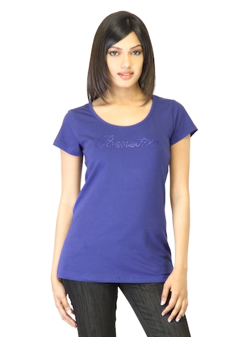 United Colors of Benetton Women Blue T-shirt